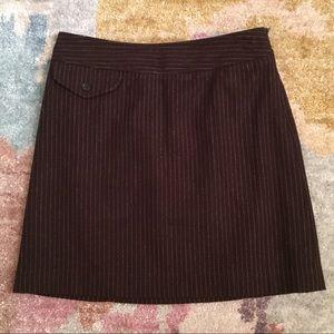 Banana republic wool striped skirt